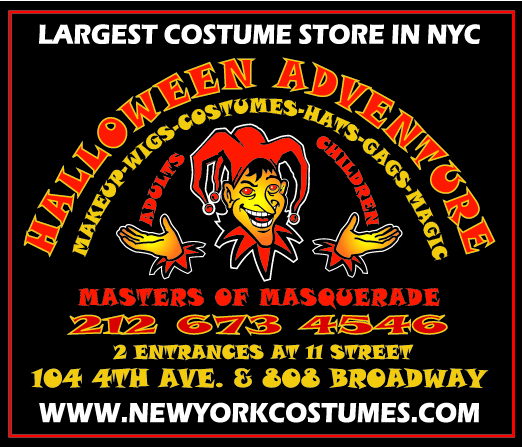 mention zombiecon and receive 15 off in store - Halloween Adventure New York